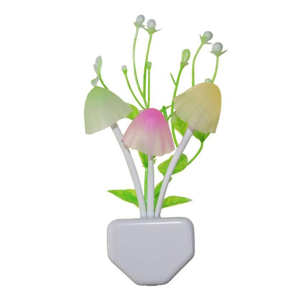 0206 Night Lamps White Flower Pot Color Changing Light & Mushrooms Light Sensor LED Decorative Night Lamp Night Lamp