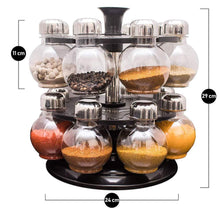 Load image into Gallery viewer, 0069 Multipurpose Revolving Plastic Spice Rack Set (16pcs)