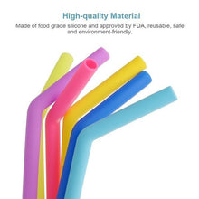Load image into Gallery viewer, 0584 Food Grade Silicone Straws (4pcs)