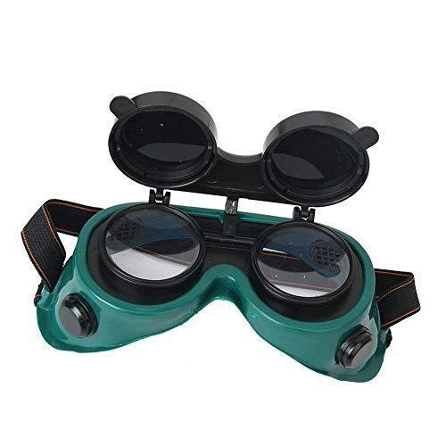 0417 Welding Goggles (Dark Green, Large)