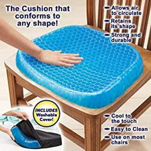 Load image into Gallery viewer, 0219 Cushion Seat Flex Pillow, Gel Orthopedic Seat Cushion Pad (Egg Sitter)