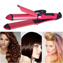 Load image into Gallery viewer, 0385 2 in 1 Hair Straightener and Curler Machine For Women | Curl & Straight Hair Iron