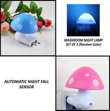Load image into Gallery viewer, 0254 Automatic Night Sensor Mushroom Lamp (0.2 watt, Multicolour)