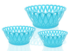 Load image into Gallery viewer, 2088 Multipurpose Round Storage Plastic Basket Tray (3pcs)