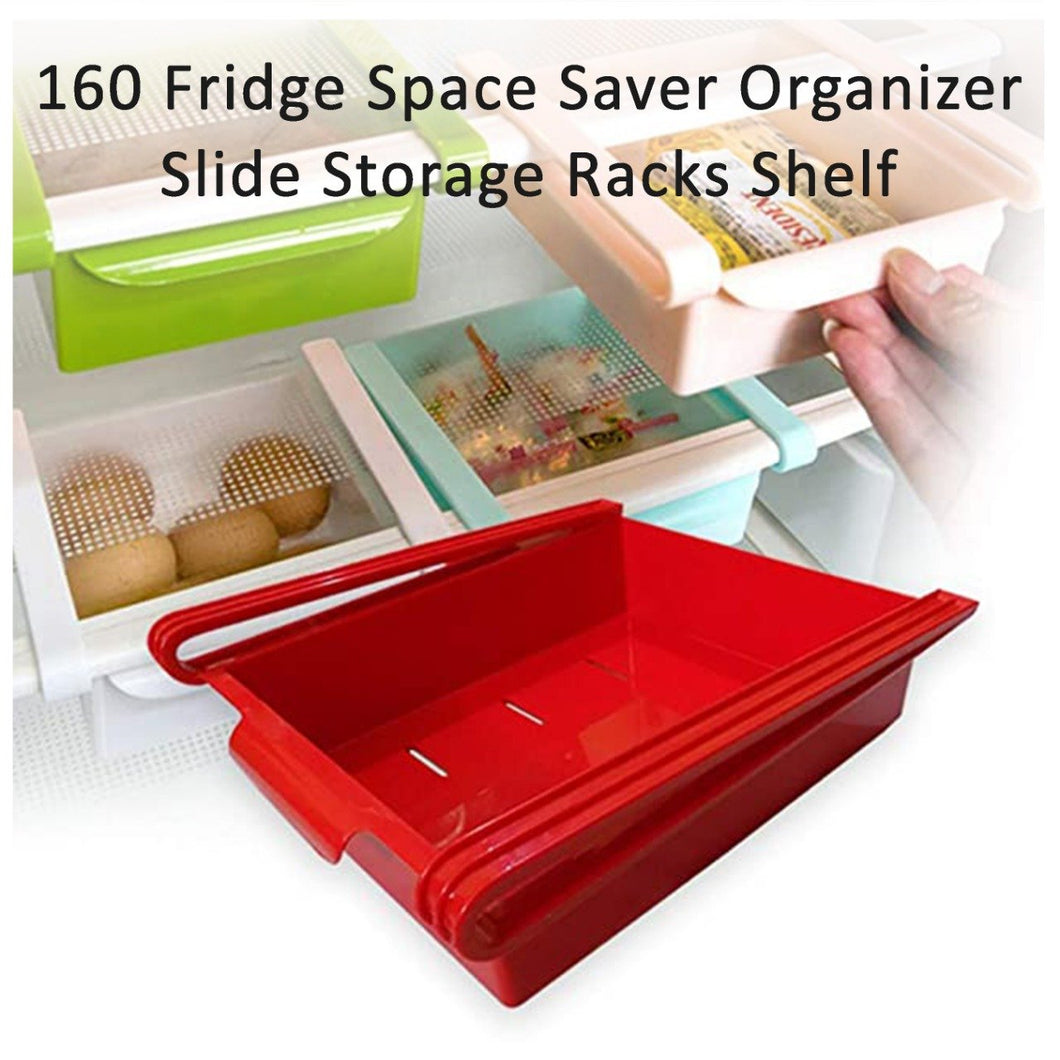 0160 Fridge Space Saver Organizer Slide Storage Racks Shelf (1 pcs)