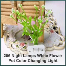 Load image into Gallery viewer, 0206 Night Lamps White Flower Pot Color Changing Light & Mushrooms Light Sensor LED Decorative Night Lamp Night Lamp