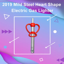 Load image into Gallery viewer, 2019 Mild Steel Heart Shape Electric Gas Lighter