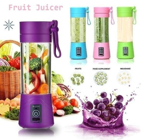 0121 Portable USB Electric Juicer - 2 Blades (Protein Shaker)