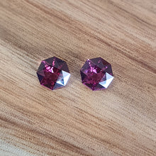 Load image into Gallery viewer, #46,49 Rhodolite Garnet Round Pair 1.2cts each
