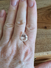 Load image into Gallery viewer, #62 Morganite teardrop 6.6cts