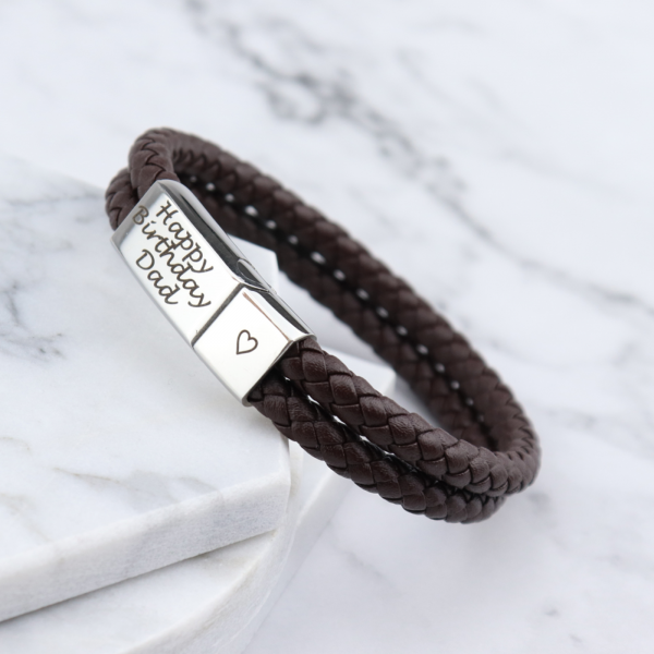 Rome Leather & Stainless Steel Mens Bracelet - Mygiavelle