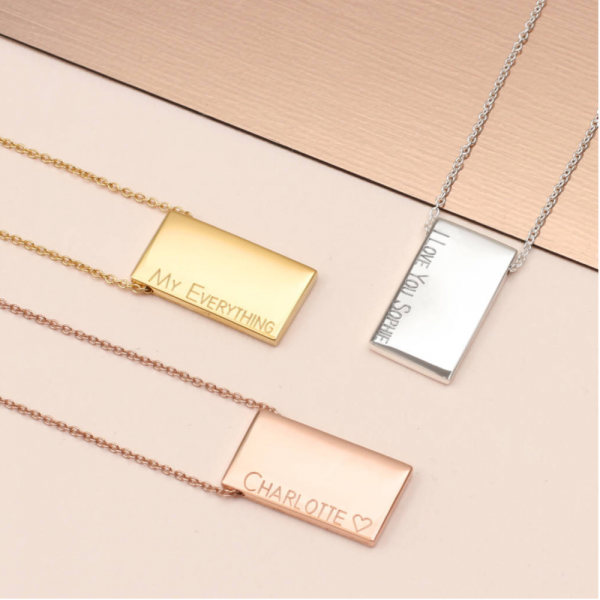 Brushed Bar Ingot Necklace - Mygiavelle