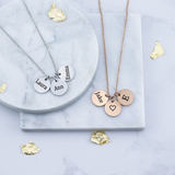 3 Minature Circle Necklace - Mygiavelle