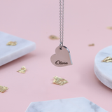 Heart diagonal Necklace - Mygiavelle
