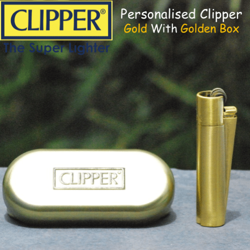 Clipper Metal Lighter – Gold - Mygiavelle