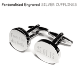 Stainless Steel Silver Circular Cufflinks - Mygiavelle