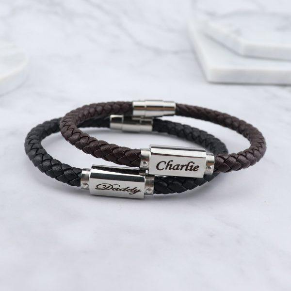 Miami Leather & Stainless Steel Mens Bracelet - Mygiavelle
