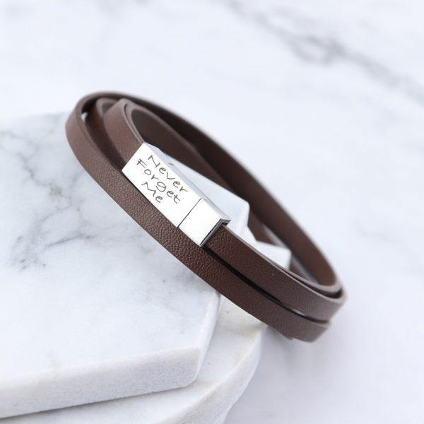 Cairo Leather & Stainless Steel Mens Bracelet - Mygiavelle
