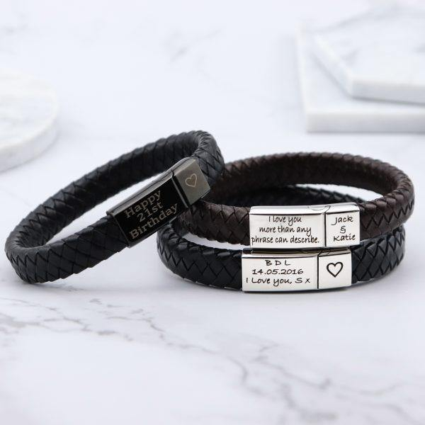 Vienna Leather & Stainless Steel Mens Bracelet - Mygiavelle