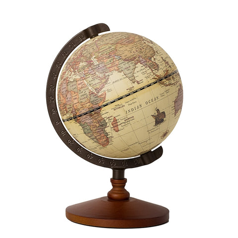 Globe Terrestre Antique d'Ornement