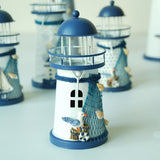Bougeoir en forme de Phare -Mouettes-
