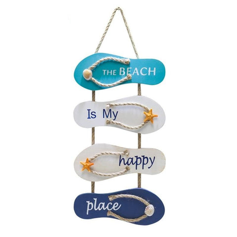 Tongs de plage suspendues BEATCH IS MY HAPPY PLACE