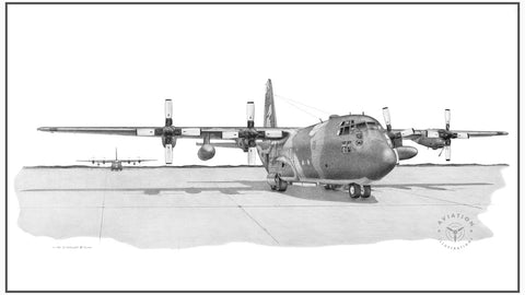 The Lockheed C-130 Hercules is a medium lift, four engine, turboprop transport. Its first flight was in 1954 and went in to service in 1956. The Hercules is undoubtedly the most successful transport ever developed with numerous variants ranging from the standard cargo/troop carrier to AC-130 gunship to the KC-130 aerial tanker.