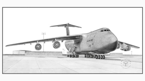 The Lockheed C-5 Galaxy was developed with the need for a very heavy lift military transport. Being able to carry large oversized loads for the U.S. Army, navy and Marines plus huge amounts of freight, the C-5 was for many years the world's largest aircraft.