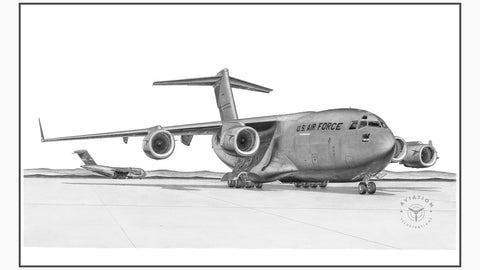 The C-17 is a very heavy lift military transport. Developed in the 1980's as a replacement for the C-130, due to its short takeoff and landing characteristics, it however eventually replaced the C-141. The C-17 is a rapid strategic airlifter of cargo and troops to main operating bases throughout the world.