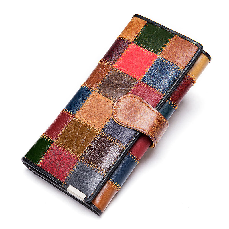Leather stitching wallet