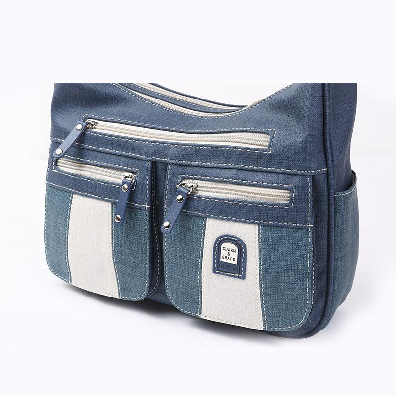 Large Capacity Zipper Fashion Denim Women Bag