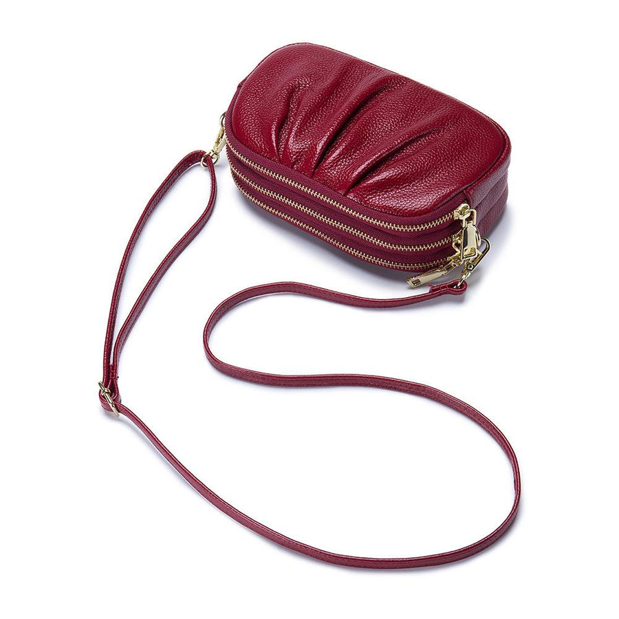 Large Capacity Genuine Leather Crossbody Phone Bag