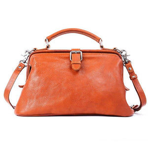 Vintage Manual Paint Vegetable-Tanned Leather Doctor Bag