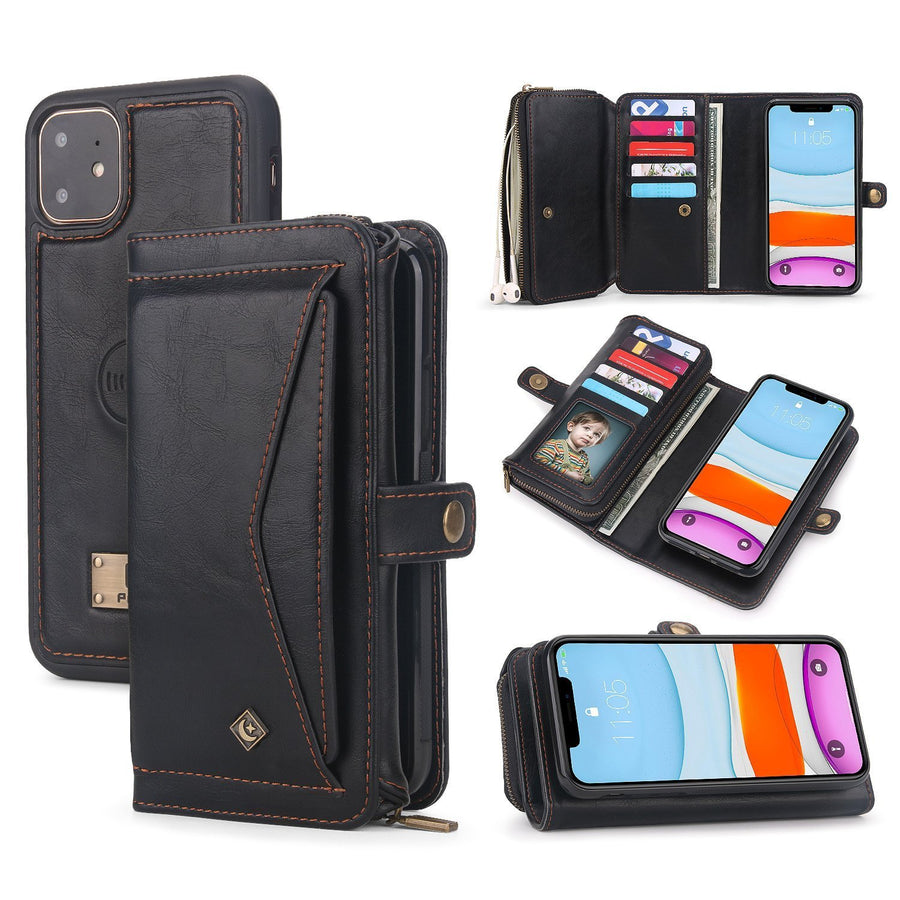 Tri-fold Wristlet Wallet Case For iPhone