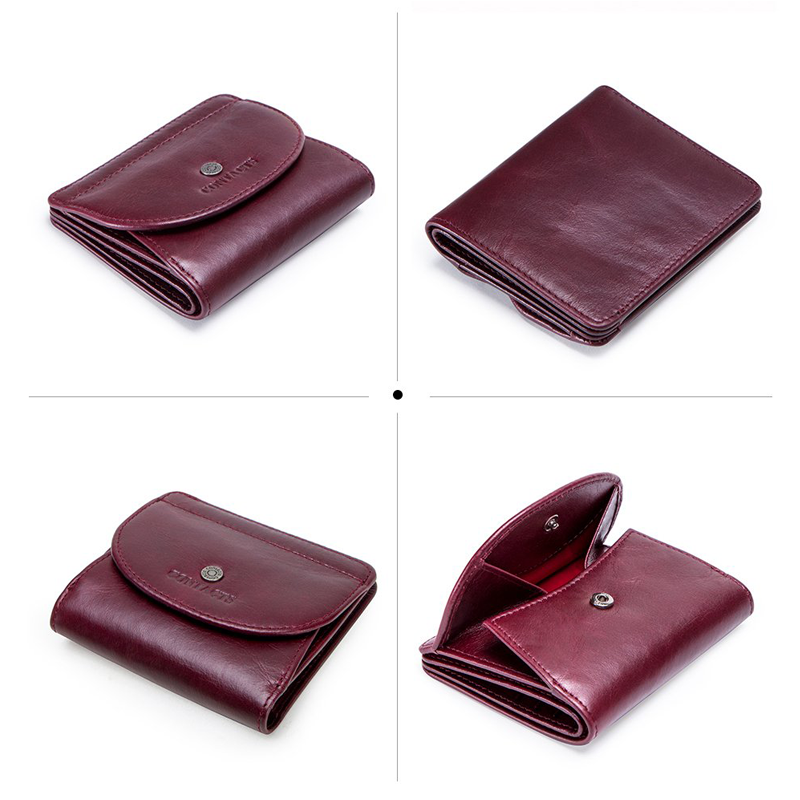 Genuine Leather Women Wallets Coin Purse