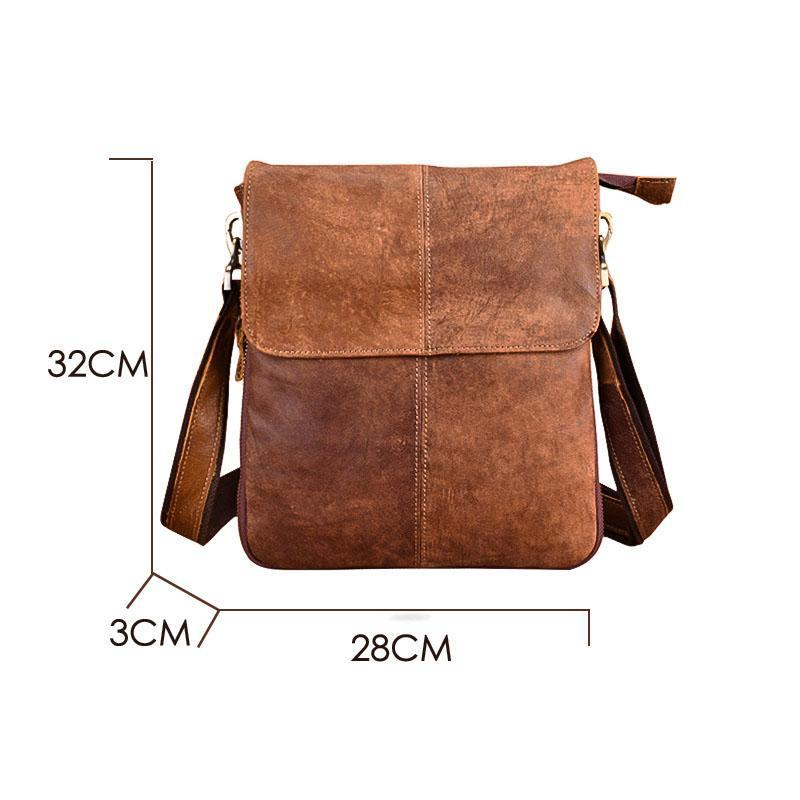 Fashion Retro Leather Crossbody Bag for Men