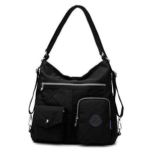 Nylon convertible backpack purse