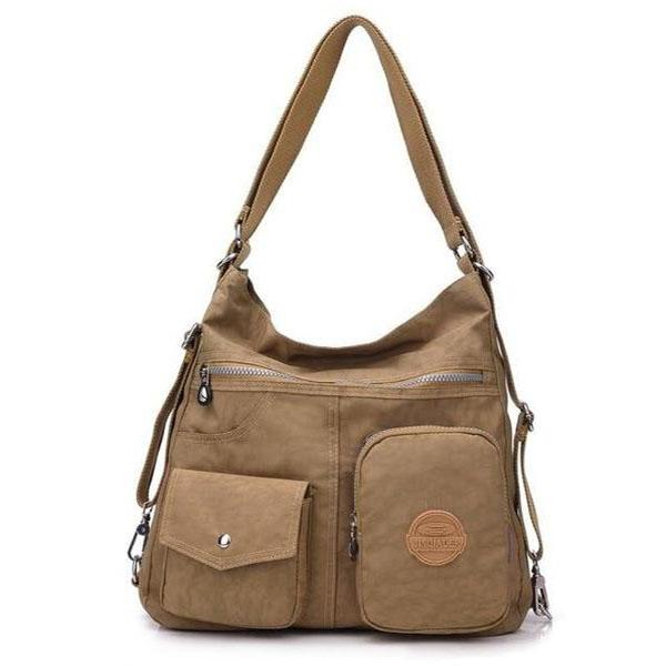 Khaki convertible nylon bag