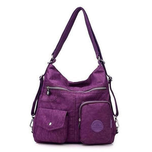 Grape convertible backpack purse