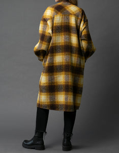 Chia Yellow Plaid Shacket