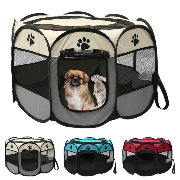 Portable Pet Dog Playpen Tent Crate Room Folding Pet Big Tent - Lightupmyheart