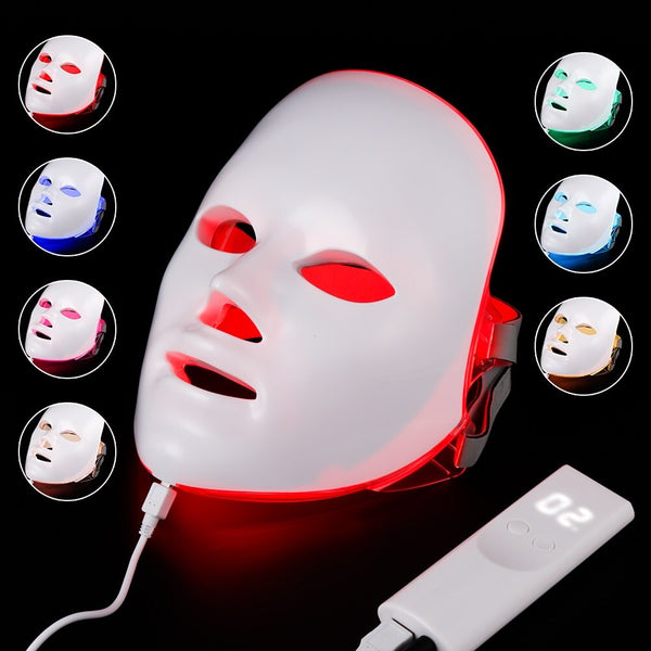 7 Color Light LED Facial Mask Skin Rejuvenation Face Care Face Mask - Lightupmyheart