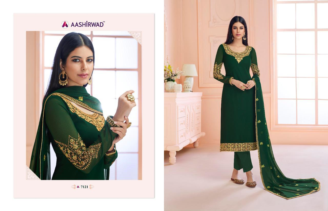 Aashirwad Creation Rosy Embroidered Heavy Occasional Wear