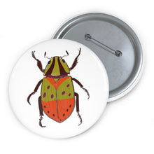 "Load image into Gallery viewer, Custom Pin ""Beetle"" Button"