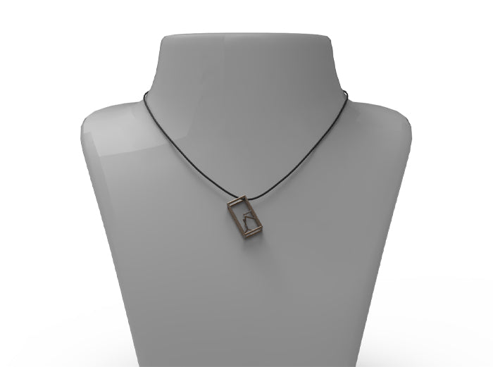 Naked Parallelepiped Pendant