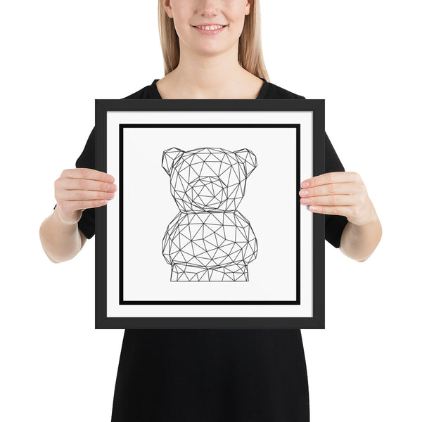 Cute Bear Framed Poster