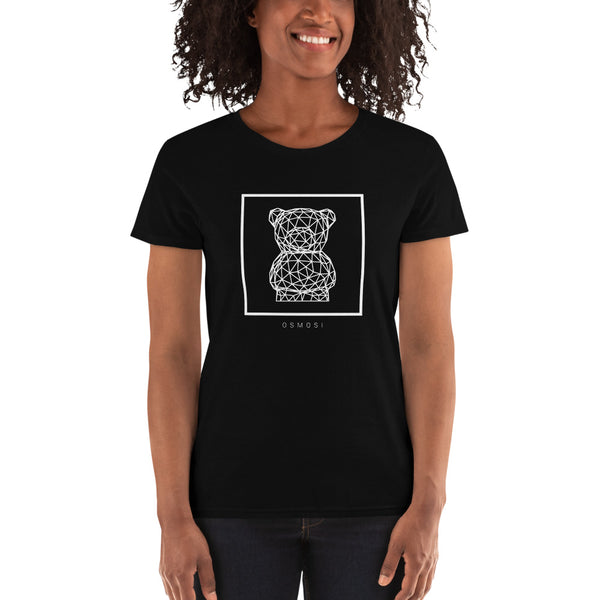 White Cute Bear T-Shirt - For Woman