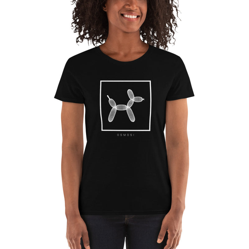 White Balloon Doggy Dogg T-Shirt - For Woman