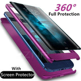 Luxury 360 Degree Full Cover Phone Case For Samsung Galaxy (Multi Options Available) - Online Tronic
