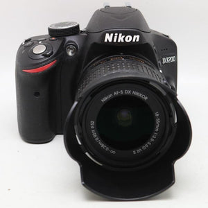USED Nikon D3200 24.2 MP CMOS Digital SLR camera with 18-55mm f/3.5-5.6G ED II  NIKKOR Zoom Lens - Online Tronic